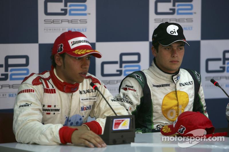 Nelson A. Piquet et Lewis Hamilton