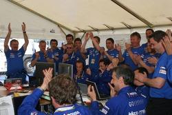 Kronos Total Citroën team members celebrate victory