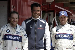 Jacques Villeneuve, Tony Kolb and Nick Heidfeld