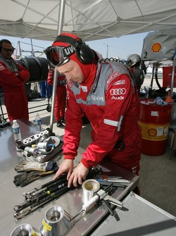 Audi team member at work