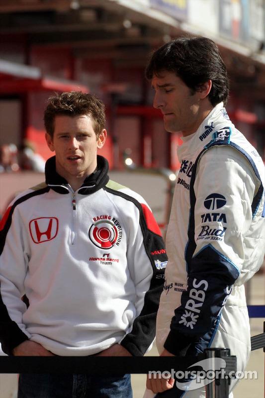 Anthony Davidson et Mark Webber