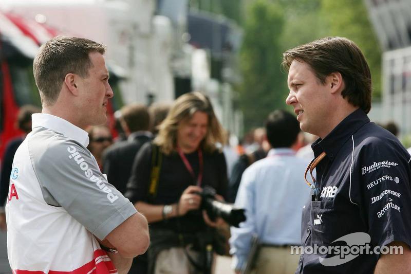 Ralf Schumacher y Sam Michael