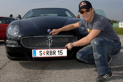 Christian Klien with his new Maserati GranSport