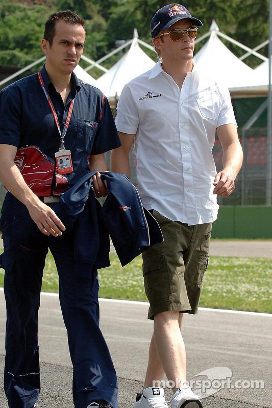 L'ingénieur de course Stefano Sordo et Scott Speed