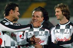 Champions for Charity football match, Ravenna's Benelli Stadium: Vitantonio Liuzzi and Jarno Trulli