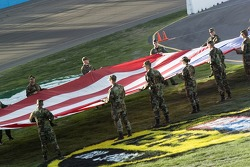 National Guard troops during pre-race ceremonies