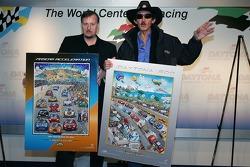 NASCAR artitst Charles Fazzino press conference: Charles Fazzino and Richard Petty