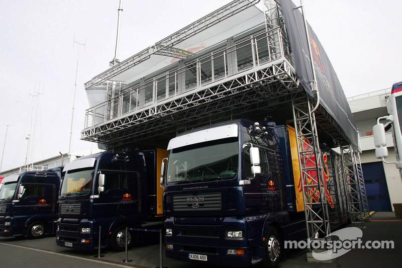 Camions de l'équipe Red Bull Racing