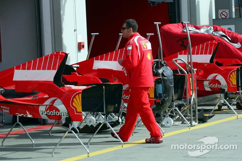Zona de pits de Ferrari
