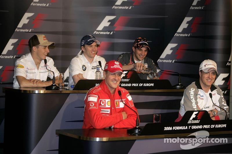Conférence de presse de la FIA jeudi: Michael Schumacher, Ralf Schumacher, Christian Klien, Nick Heidfeld et Christijan Albers