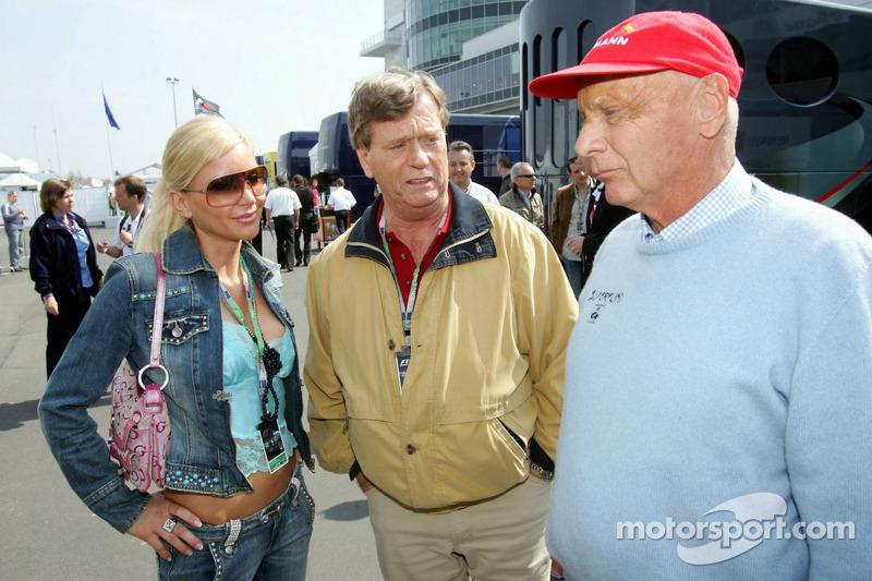 Niki Lauda avec Tatjana Gsell et Prinz Ferfried von Hohenzollern