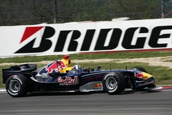 David Coulthard with a broken front wing