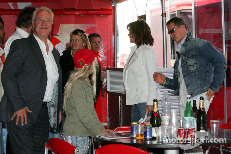 Rolf Schumacher, Corina Schumacher, Barbara Stahl et Michael Schumacher
