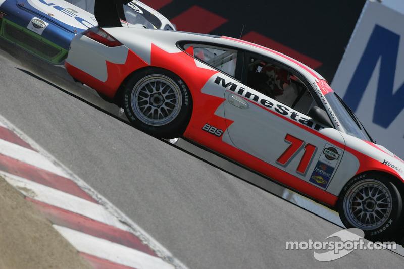 #71 SAMAX/ Doncaster Racing Porsche GT3 Cup vue de profil
