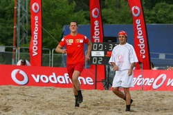 Vodafone Ferrari Beach Soccer Challenge: Michael Schumacher and Felipe Massa