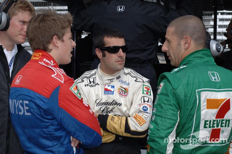 Marco Andretti, Dario Franchitti et Tony Kanaan