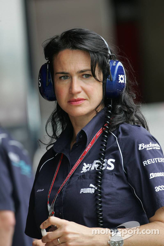 Silvia Hoffer, attachée de presse de Williams F1 Team