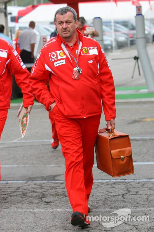 Nigel Stepney, le manager technique de la Scuderia Ferrari