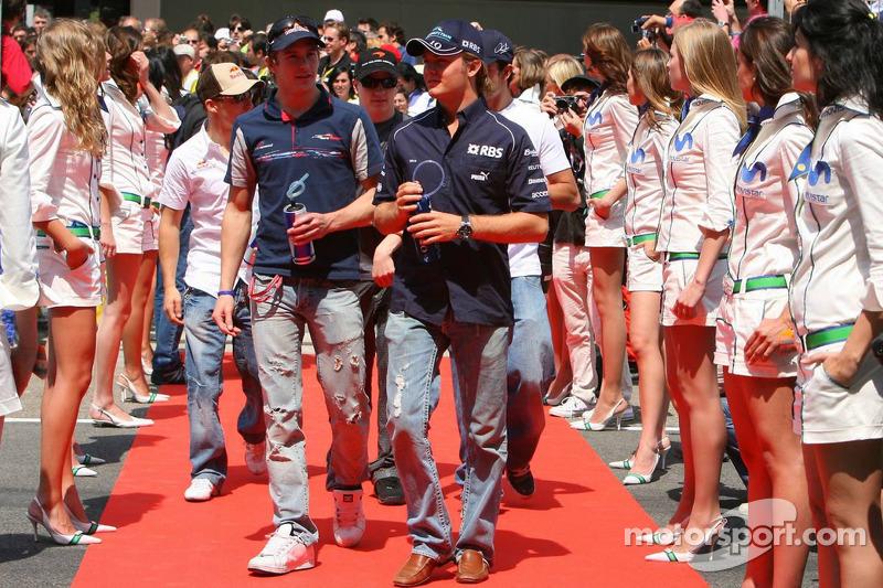 Scott Speed et Nico Rosberg