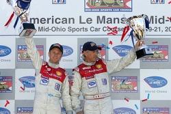LMP1 podium: class winners Allan McNish and Rinaldo Capello