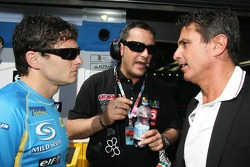 Giancarlo Fisichella talks with his manager with is manager Enriquo Zanarini