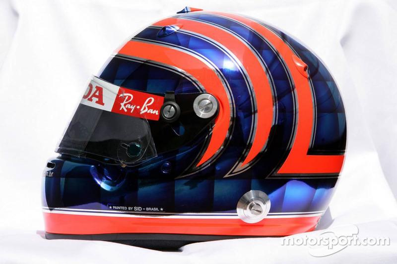 Casco de Tony Kanaan utilizado por Rubens Barrichello en Mónaco