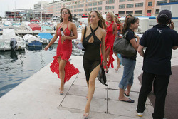Stars and Bars girls in the Monaco Harbour