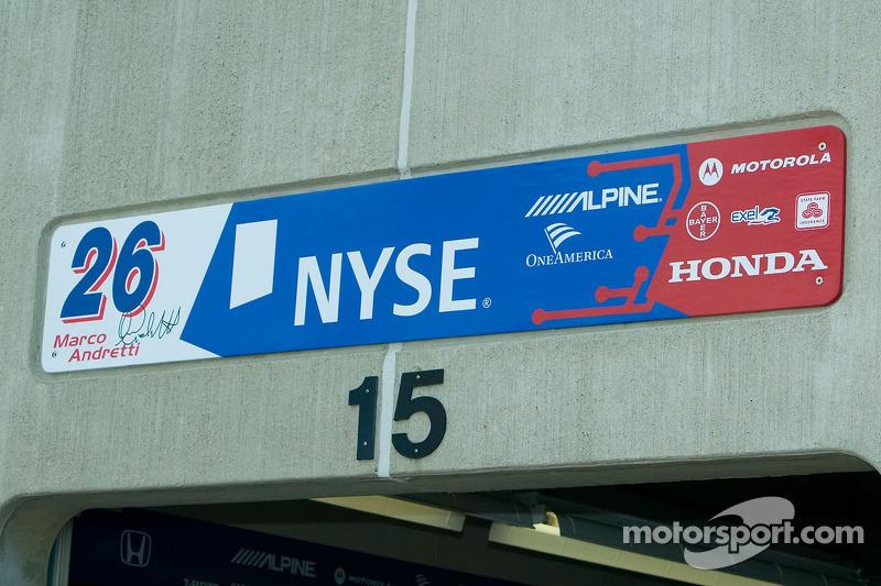 Le garage de Marco Andretti