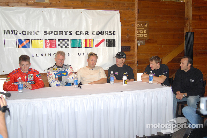 Conférence de presse: Brian Frisselle, Ricky Rudd, Rob Finlay, Memo Gidley, Michael McDowell et Guy Cosmo