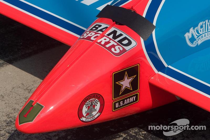 Détail du nez de la voiture IndyCar