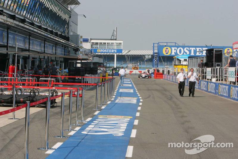 Le paddock de Silverstone