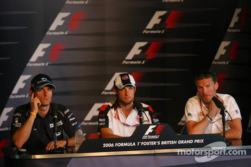 Conférence de presse de la FIA, jeudi: Mark Webber, Jenson Button, David Coulthard