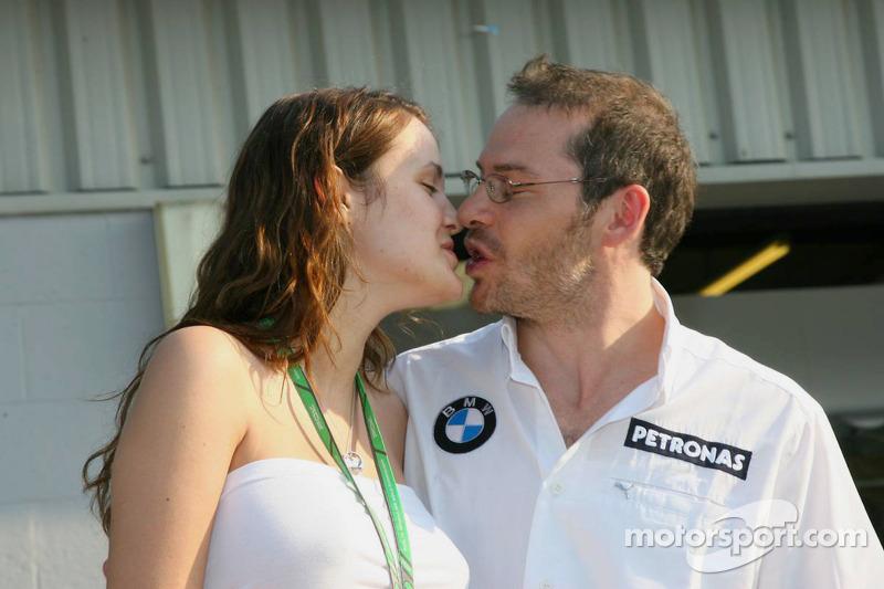 Jacques Villeneuve avec sa nouvelle femme Johanna