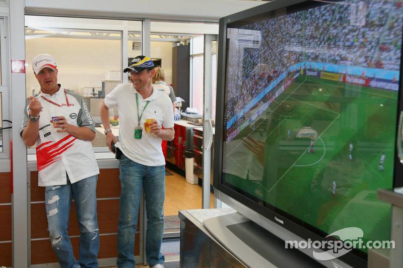 Ralf Schumacher observar Alemania que juega en la Copa del mundo