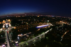 Paris by night: overlooking the Seine