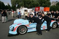 Paul Belmondo Racing Courage C65 Ford at scrutineering