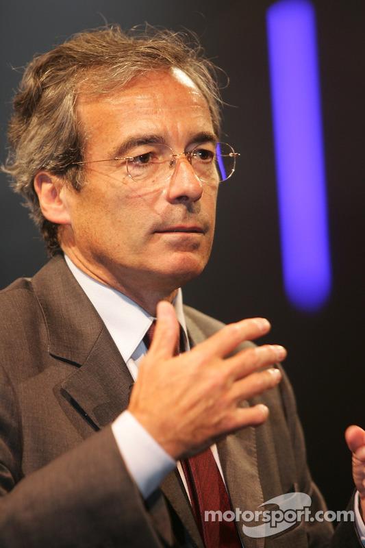 Conférence de presse de Peugeot Sport: Frédéric Saint-Geours