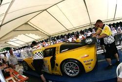 Corvette Racing Corvette C6-R cars in scrutineering