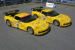 A pair of Corvette Racing Corvette C6-R