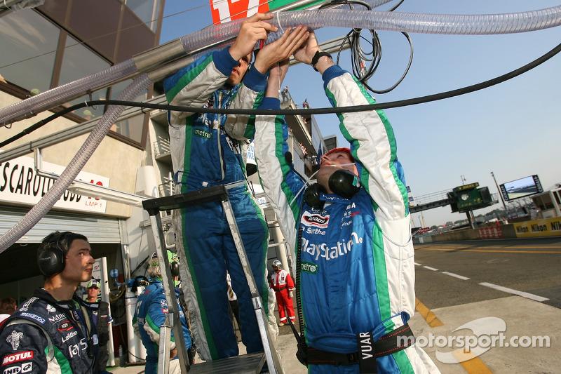 L'équipe Pescarolo Sport travaille sur le système de ravitaillement