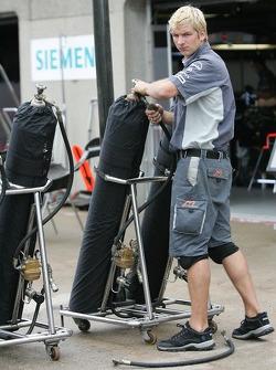 MF1 Racing team member at work