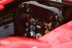 Steering wheel of the Ferrari