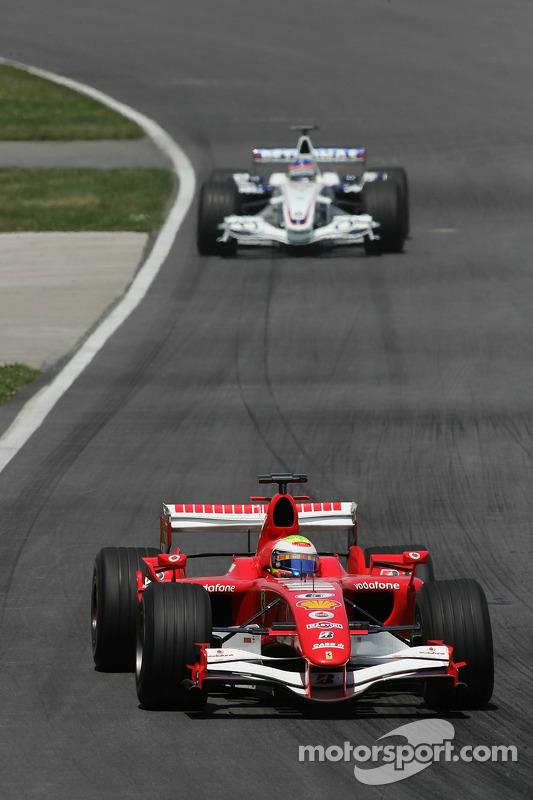 Felipe Massa delante de Jacques Villeneuve
