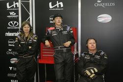 Intersport Racing crew in the garage