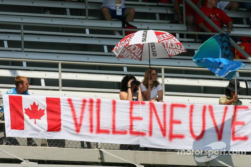 Des fans de Jacques Villeneuve