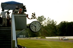 #2 Audi Sport North America Audi R8: Rinaldo Capello, Allan McNish takes the checkered flag