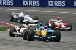 Giancarlo Fisichella, Rubens Barrichello and Ralf Schumacher