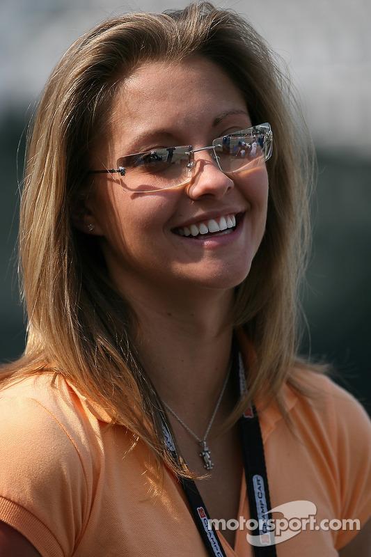 La fiancée d'A.J. Allmendinger Lynne Kushnirenko