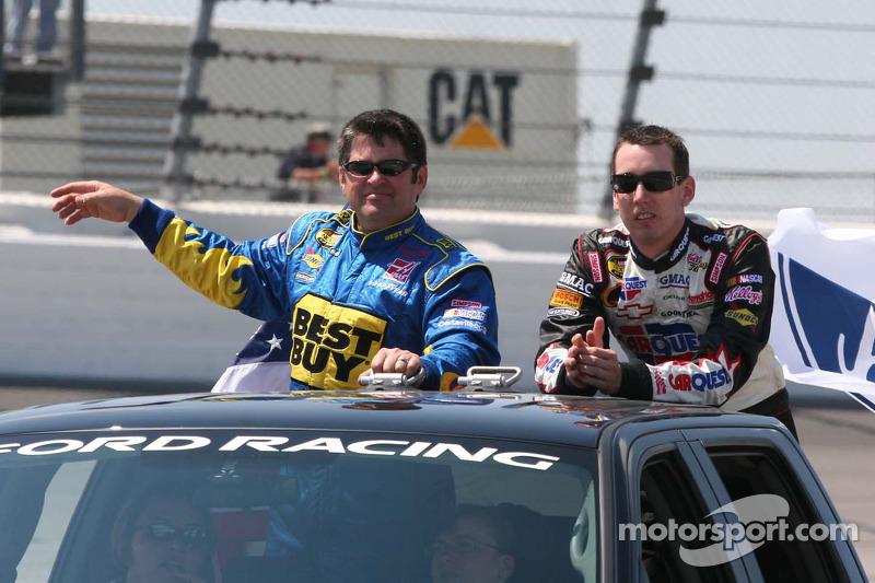 Jeff Green et Kyle Busch