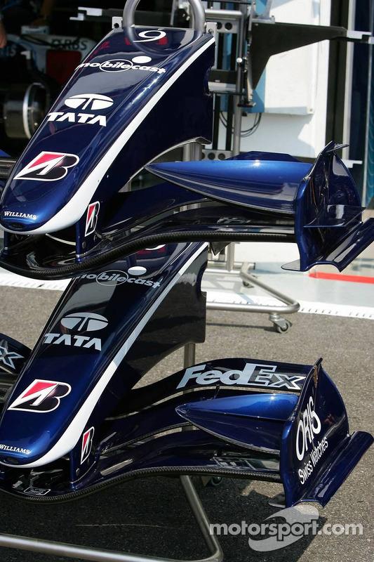 Williams a différents styles d'ailerons avant disponibles
